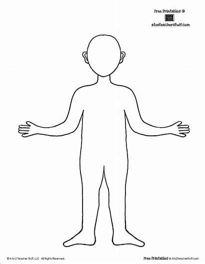 Outline Template Printable Human Printables Worksheets Person