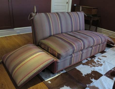 george smith knole 7 sofa in burgundy stripe the local vault