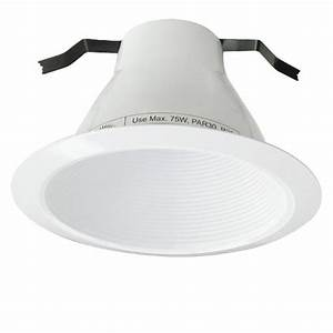 6 U0026quot  Recessed Lighting Air Tight White Stepped Baffle Trim