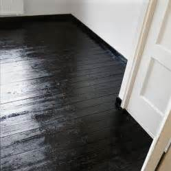 glossy black floors i 39 ve heard you can wood stain them to this colour a mix of jacobean