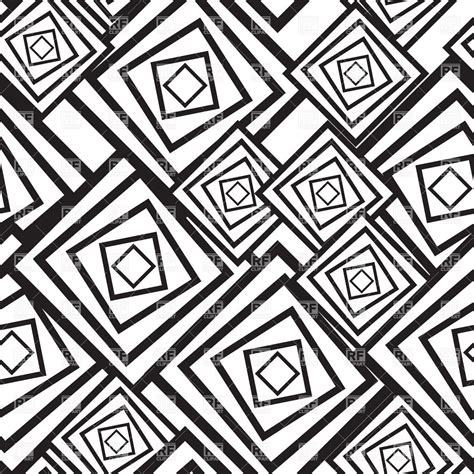 black and white abstract pattern with squares vector image