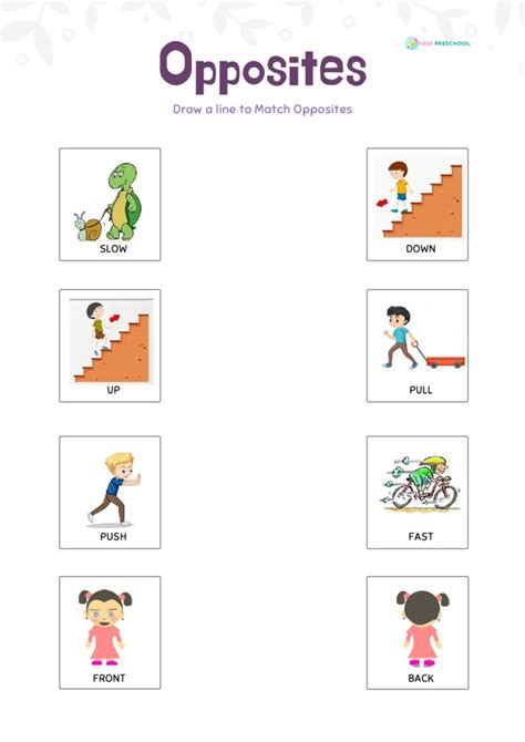 52 boredom busters for kids.epub. Opposite Words with Pictures Worksheets - Free Preschool
