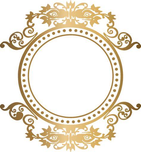 foto de Download Moldura Arabesco Logomarca Brasão Dourado