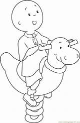 Caillou Coloring Pages Happy Playing Spring Rider Printable Cartoon Games Coloringpages101 Coloringonly Series Categories sketch template