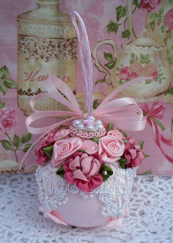 Shabby Chic Ornamente by Shabby Pink Ornament Venise Lace Pink Cabbage