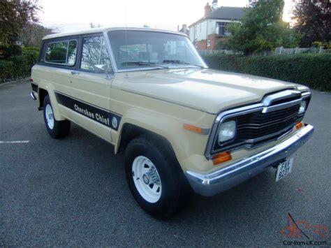1979 jeep cherokee chief jeep cherokee chief s 1979 4x4 v8 5 9 litre auto sj fsj
