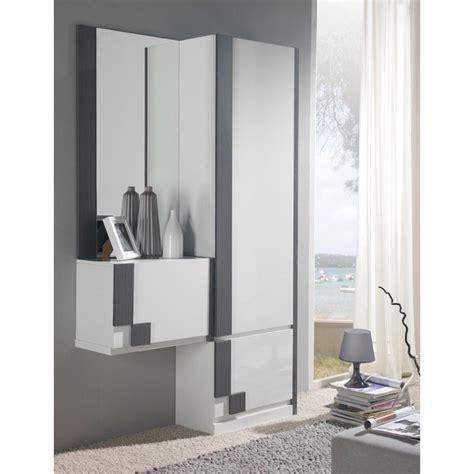 armoire chambre porte coulissante miroir meuble d 39 entrée moderne avec rangement chaussures
