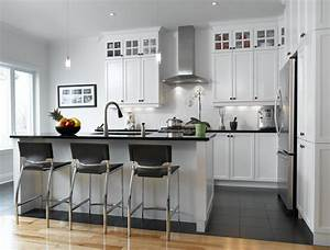 Cuisine Bois Et Blanc : blanc un retour cuisine bois quartz ~ Dailycaller-alerts.com Idées de Décoration
