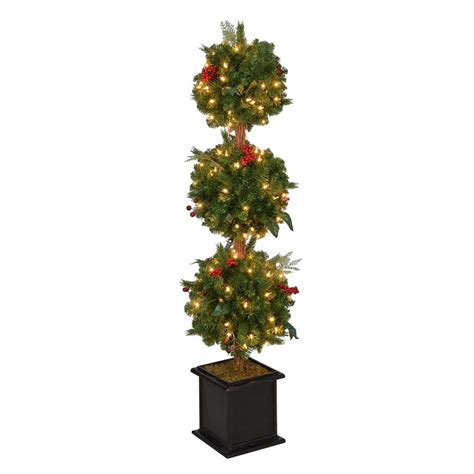 porch trees for home accents 4 ft pre lit winslow fir artificial