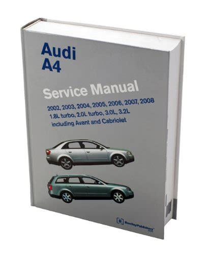 service and repair manuals 2002 volkswagen cabriolet parental controls audi a4 service manual 2002 2003 2004 2005 2006 2007 import it all