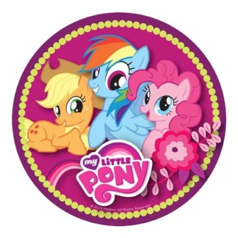 pony  edible icing cake image kids themed
