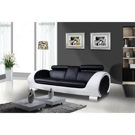 canaper noir et blanc canape design blanc et noir