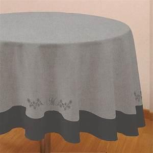 Nappe De Table Ronde : nappe ronde m lanie gris nappe de table eminza ~ Teatrodelosmanantiales.com Idées de Décoration