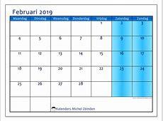 Kalenders februari 2019 MZ