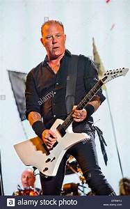 James Hetfield of Metallica performing on the Pyramid ...