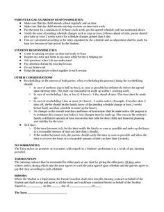 tutoring contract template uk private tutoring contract template word doc template