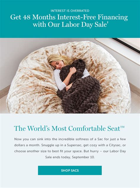 Lovesac Financing by Lovesac Last Chance For 48 Months Of Interest Free