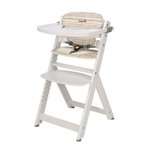 chaise haute safety 1st safety 1st chaise haute timba bois blanc coussin blanc