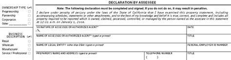 how to file your form 571 l business property statements