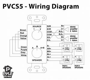 Pylehome - Pvcs5  B Speaker  Source Switch