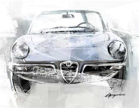 Alfa Romeo 1750 Duetto Spider Art Print • Simply Petrol