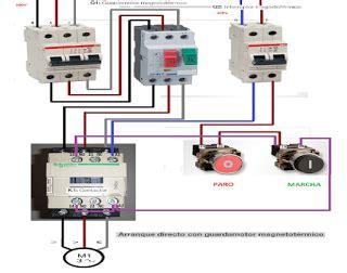 esquemas el 233 ctricos arranque directo con guardamotor magnetotermico tr proyectos que