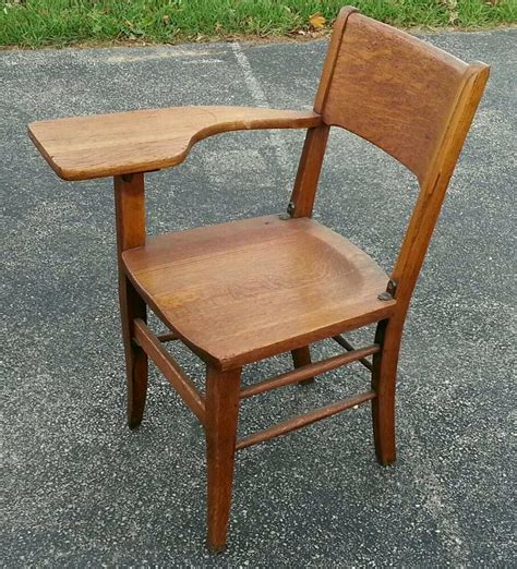 College Desks by Antique Oak College Student School Desk Chair