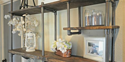 remodelaholic build  budget friendly industrial shelf