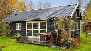 Black and White Danish Summerhouse by Small House Bliss
