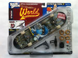 new authentic rare world industries handboard tech deck
