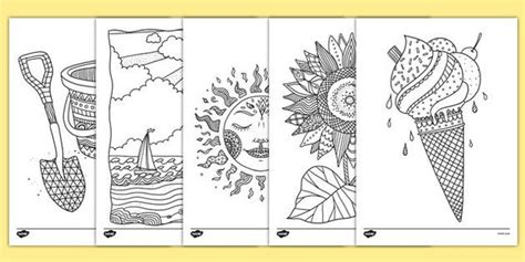 summer colouring pictures  kids summer coloring pages mindfulness colouring mindfulness