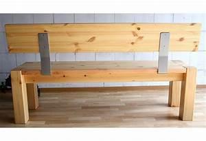 Bank Mit Lehne Selber Bauen : massivholz sitzbank 160cm mit r ckenlehne holzbank lehne kiefer natur ~ Whattoseeinmadrid.com Haus und Dekorationen