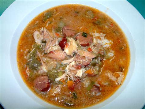 chicken gumbo chicken gumbo with andouille sausage recipe dishmaps