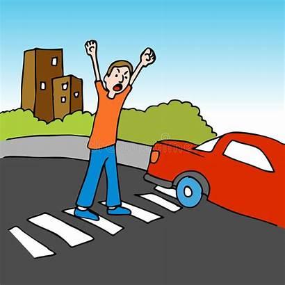 Dangerous Crosswalk Vector Illustration