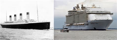 giants of the sea how modern cruise ships size up to the titanic