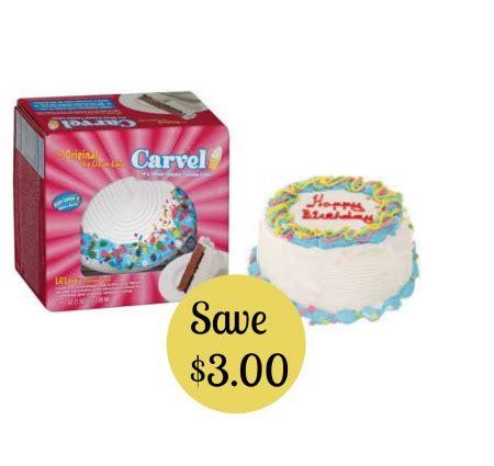 carvel ice cream cake coupon save  ftm