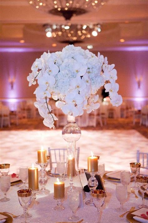 Orchid Ice Centerpiece White Wedding Bouquets
