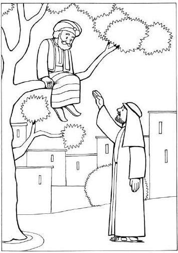 zacchaeus coloring pages  preschoolers bible coloring
