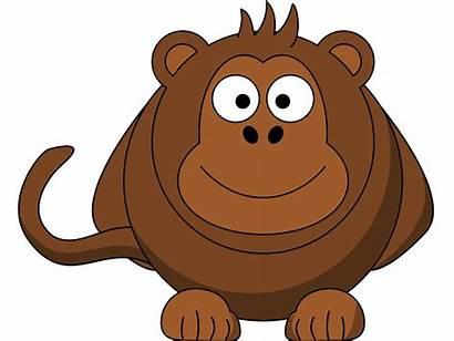 Monkey Cartoon Clip Funny Clipart Cliparts Panda