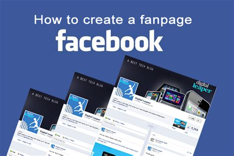 create a fan page on facebook without a profile digital leaper how to create a facebook fan page