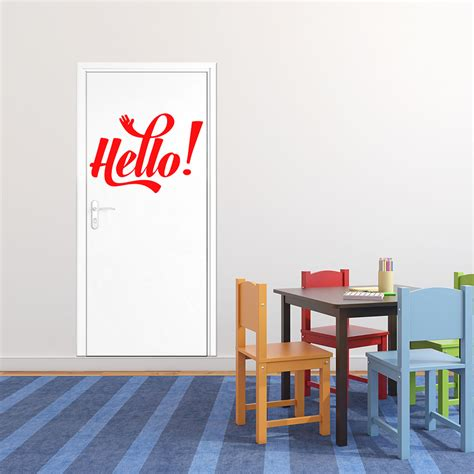 stickers citations chambre sticker citation hello stickers portes chambre