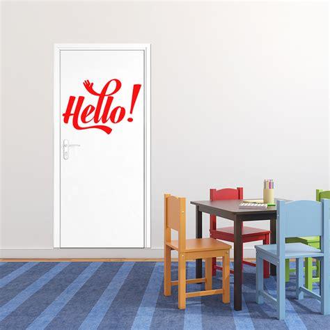 stickers citations chambre sticker citation hello stickers portes chambre