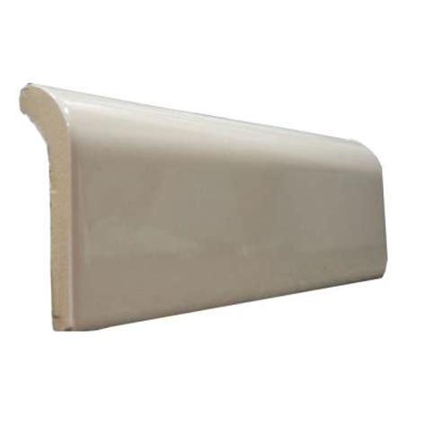 ceramic trim tiles 2 in x 6 in bright bone radius cap