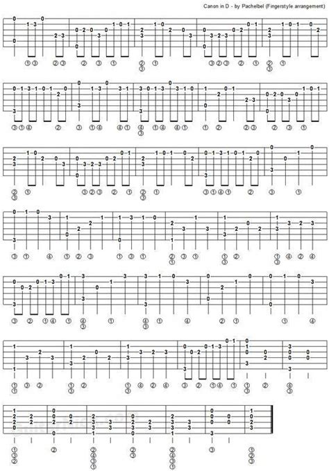 We have an official canon in d tab made by ug professional guitarists. Canon In D by Pachelbel - fingerstyle guitar tablature 2 #teachingguitar   Fingerstyle guitar ...