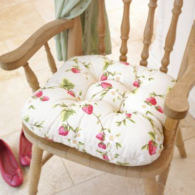strawberry kitchen chair cushion lakeland