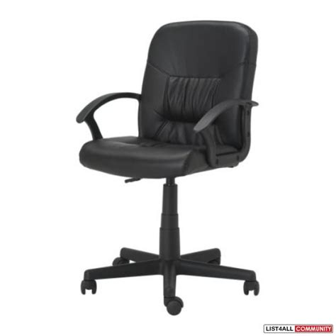 ikea leather like swivel office chair 604 sale list4all