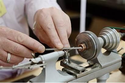 Lathe Machine Making Watchmaker Turning Wood Bench