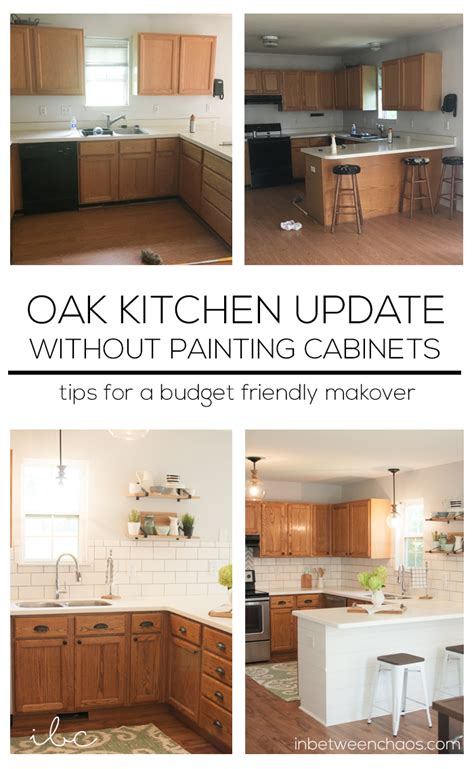 update kitchen cabinets without painting updating golden oak kitchen cabinets trendyexaminer 8759