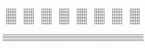 Printable Music Paper With 4x Staves And Chord Diagram Grids For Guitars