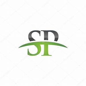Letra, Inicial, Verde, Sp, Swoosh, Logotipo, Swoosh, Logotipo